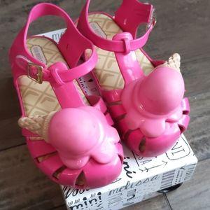 Pink Mini Melissa Ice Cream Cone Size 12